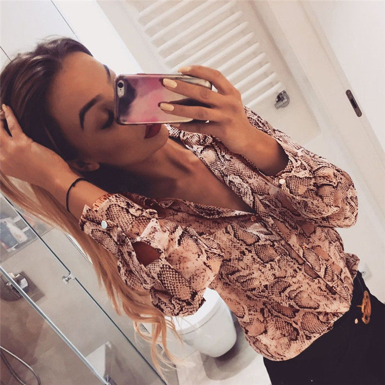 women's new long-sleeved loose single-breasted shirt  NSKX5784