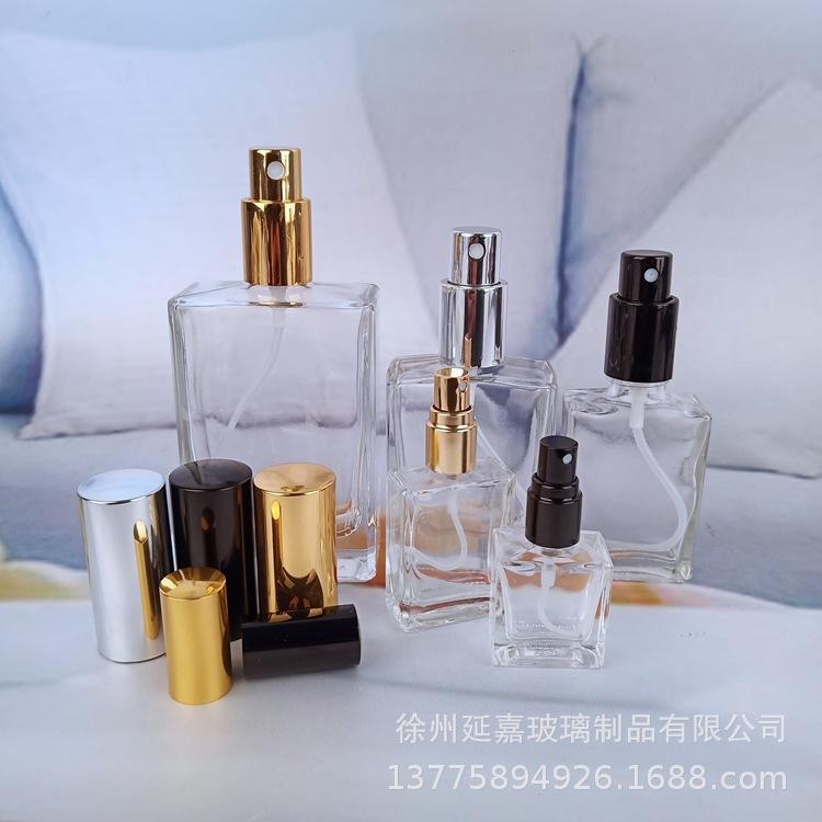 厂家直销多种规格香水瓶30ml.50ml四方香薰瓶 塑料电镀压头香水瓶