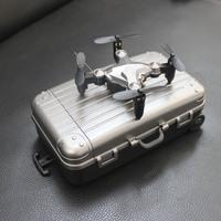 Мини складной аэрофотосъемка четырехосный самолет БПЛА в режиме реального времени передачи изображения мобильного телефона 2.4G модель самолета игрушка пульт дистанционного управления самолетом