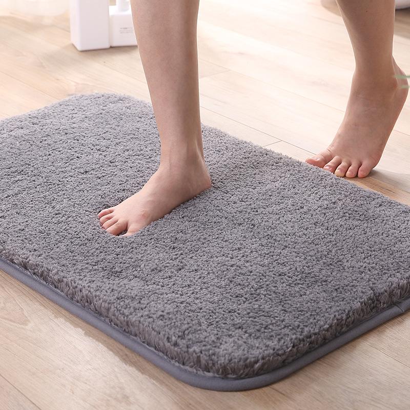 夏浪 高毛絨加厚地墊地毯入戶門墊浴室防滑墊吸水跨境代發可定制