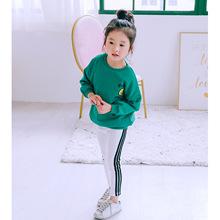 2019春季新款童装韩版亲子装团体运动服家庭装韩国原单2315