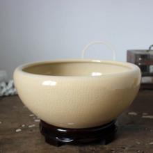 景德镇陶瓷器金鱼缸创意乌龟缸开片裂纹碗莲荷花盆养鱼缸水仙水培