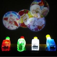 卡通手指投影燈手指燈戒指燈 LED擺地攤熱賣貨源兒童發光玩具