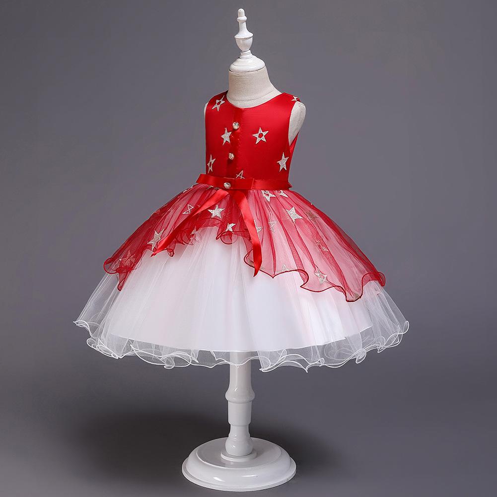 New children's dress tutu skirt girls princess star net yarn dress children dress NHTY198305