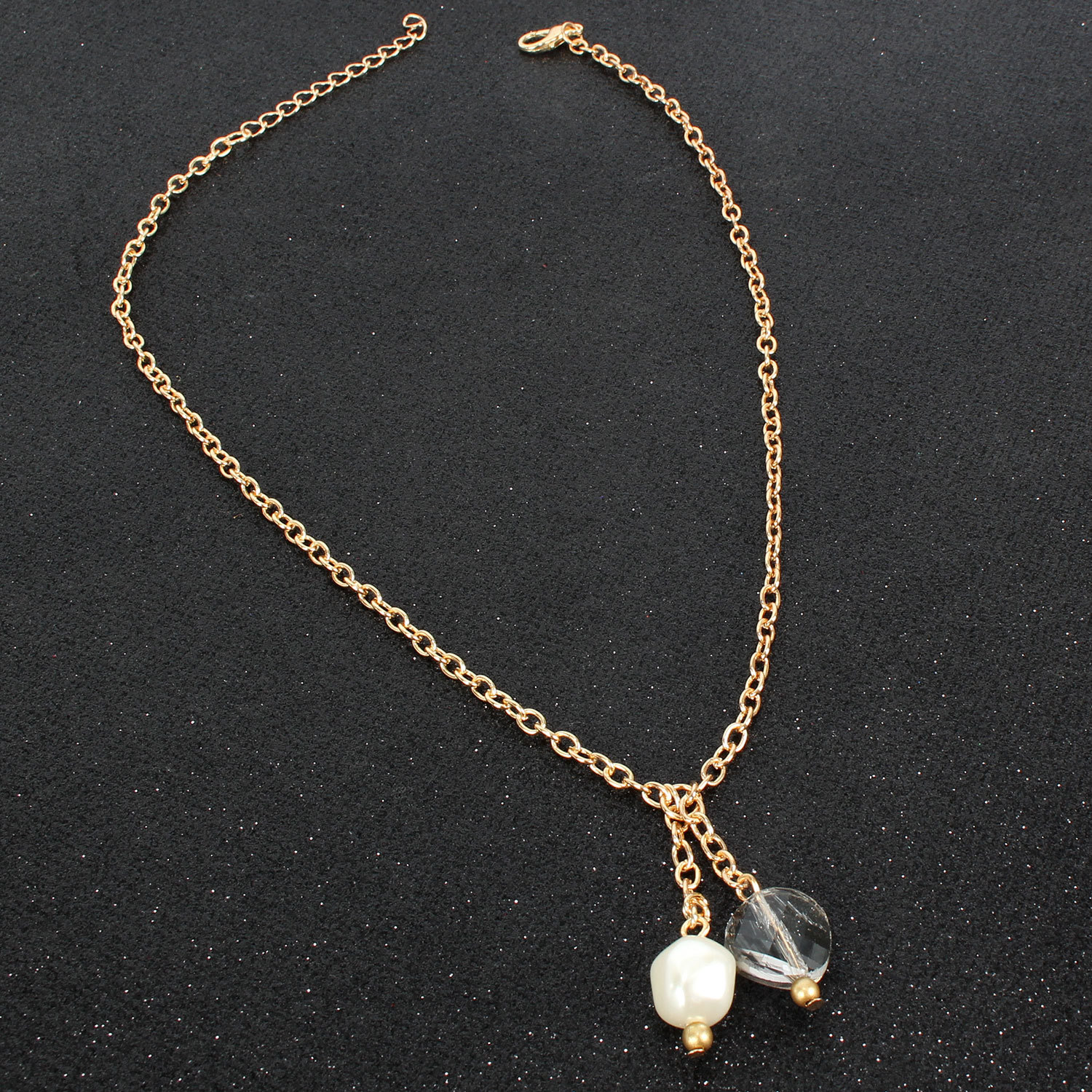 Fashion temperament personalized shaped imitated crystal beads necklace NHCT134404