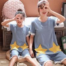 夏季韩版新款宽松卡通纯棉短袖睡裙儿童可爱舒适外穿家居裙
