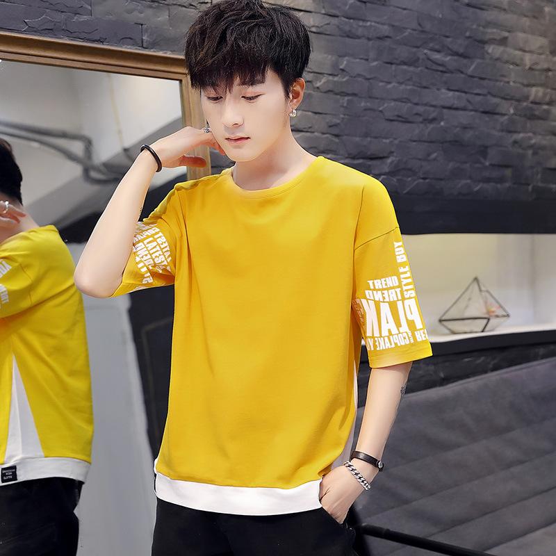 新款棉质潮流男式T恤  夏季清爽衬衫 修身舒适套头男装T恤批发