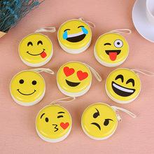韩版耳机收纳可爱钱包卡通笑脸表情硬币女士钱包 马口铁零钱包
