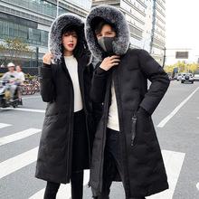冬季男式棉衣中长款过膝连帽情侣款加厚保暖棉服外套棉袄羽绒棉服