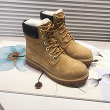 特價清倉福利真皮馬丁靴系帶羊皮毛一體雪地靴斷碼大黃靴