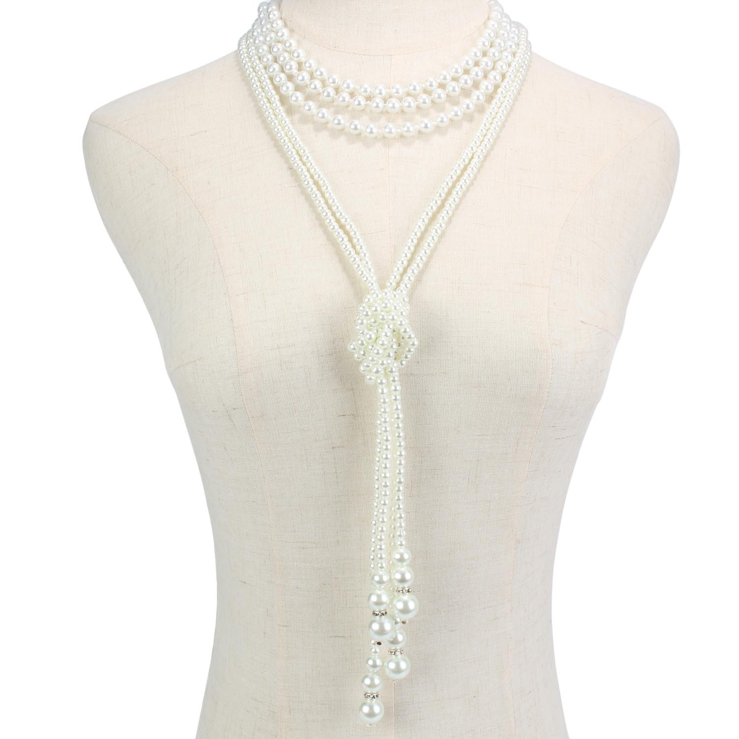 Classic Multi-layer Pearl Necklace 1920s Vintage Party Sweater Chain European And American Cross-border For Pendant