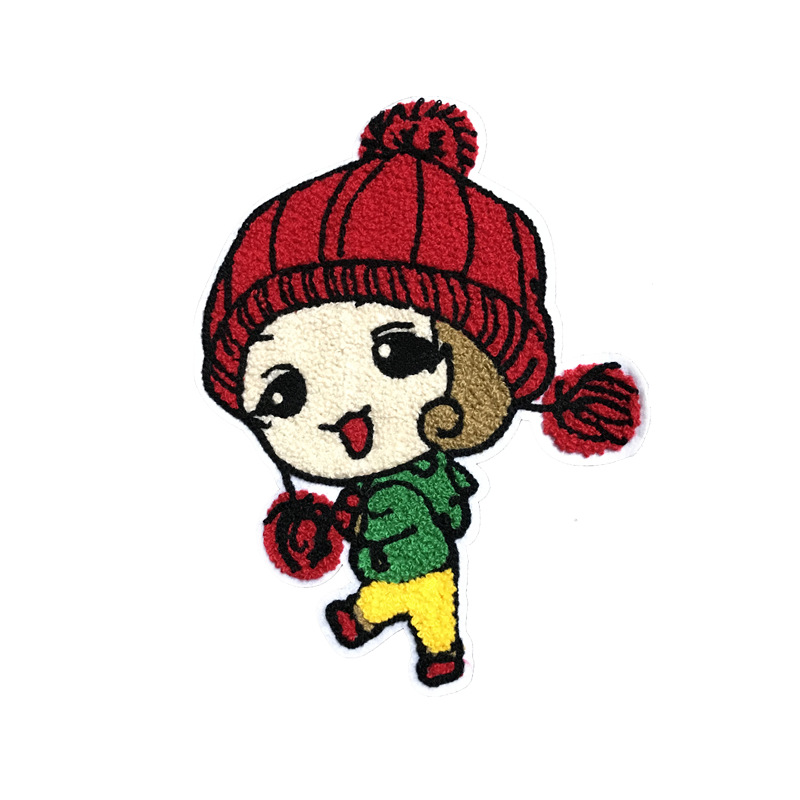 Girl towel embroidery patch beads cloth stickers hook wool embroidery little red hood cloth patch patches clothing accessories NHLT184873