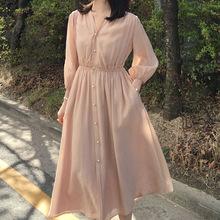 显瘦很仙夏修身高腰连衣裙网红女过膝2019小众长裙法国的时尚气质