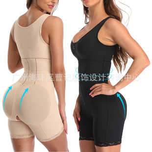 Cross-border European and American insTOPMELON large size fat woman one-piece belly-lifting hip body shaping jersey D008