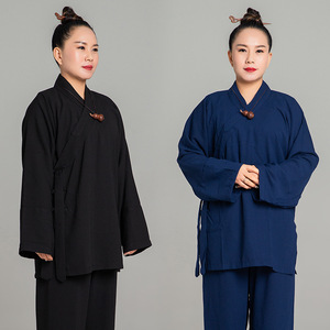 tai chi clothing kung fu uniforms for women and men Taoist robes cotton and martial arts practitioners clothes