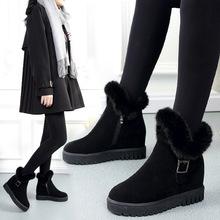 雪地靴2019冬季韓版加絨加厚新款棉鞋圓頭內增高女鞋外貿一件代發