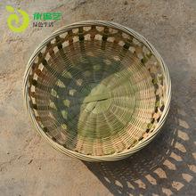 竹编篮 家用精致水果竹篮工艺品 广西手工串花篮子客厅收纳竹制品