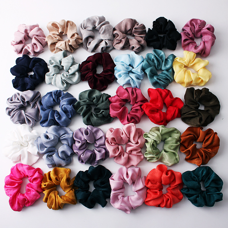 New fashion satin head flower cheap hair ring wholesale NHDM205029