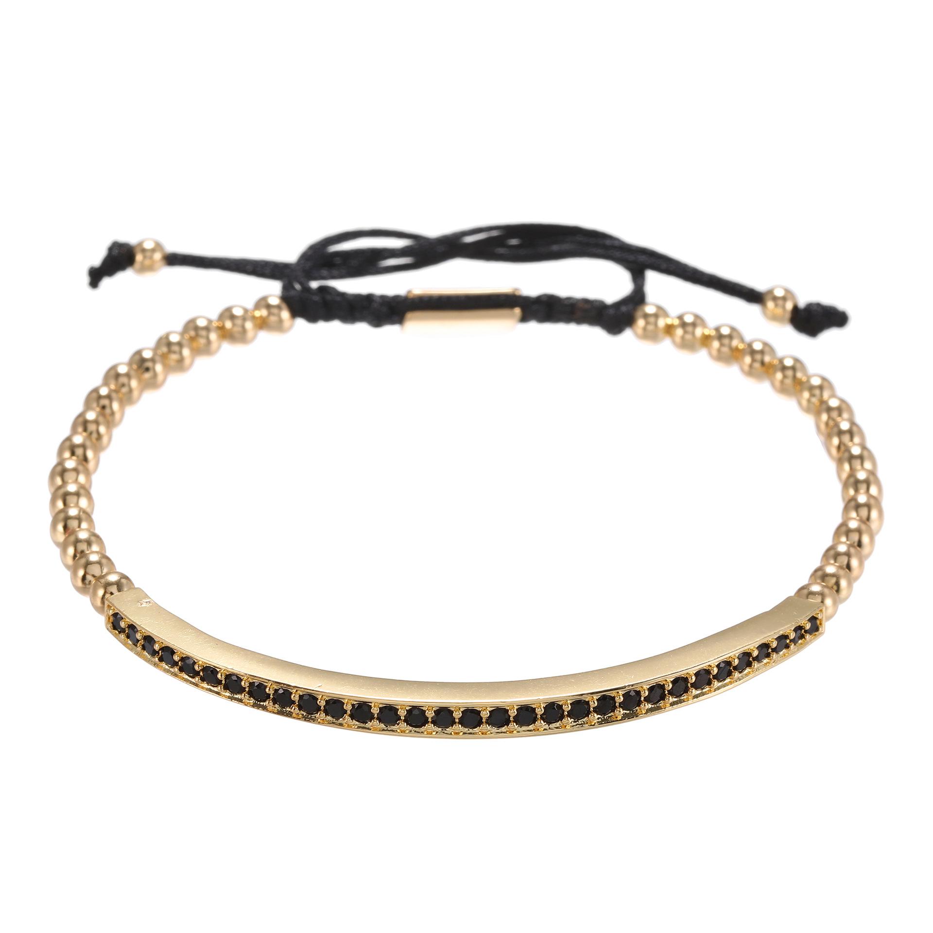 fashion copper inlaid zirconium bracelet NHZU315282
