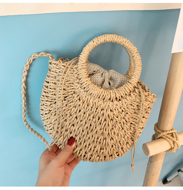 Messenger bag woven handbag summer new wild oneshoulder beach bag handmade straw bag NHGA200655