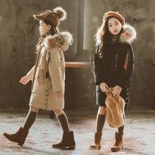 女童棉衣2019新款冬装韩版儿童中长款棉袄外套女孩加厚洋气棉服潮