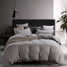 Vio Amazon ebay's hot-selling plain sanding and thicker lotus leaf edge three sets of new European and American bedding