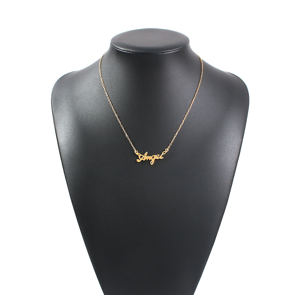 Hot Jewelry Simple Ladies Pendant Letter Original Innovative Alloy Necklace NHMD189662