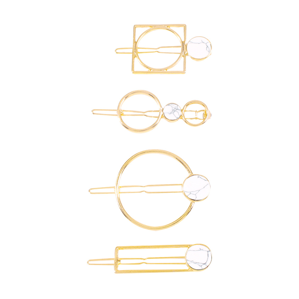 Hair accessories simple and irregular hair accessories geometric resin hairpin suit women NHMD190428