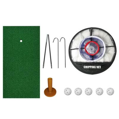 厂家直销便携式高尔夫空洞球切杆目标网集球网挥杆网套装定制LOGO