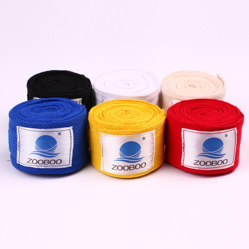 盒装纯棉 一对6米拳击绷带 散打手绷带 泰拳绑带 绑手带 缠手带