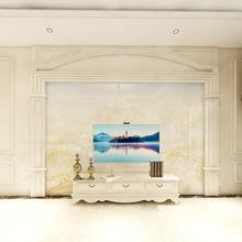 ?#34364;?#26609;电视背景墙设计 室内装修电视墙瓷砖 整体客厅效果图