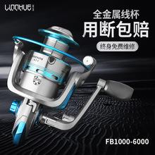 粼湖全金屬漁線輪搖臂紡車輪專業級拋桿輪 fishing reel大卸力
