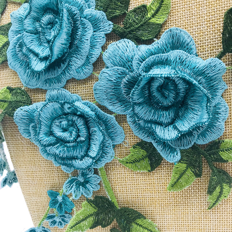 Embroidered water soluble flowers three-dimensional car flower decoration clothes hole cloth stickers cheongsam decorative patch patch NHLT174244