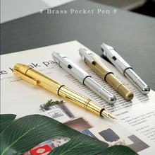 品质款全铜复古口袋短钢笔  八角形纯手工制作商务礼品可定制LOGO
