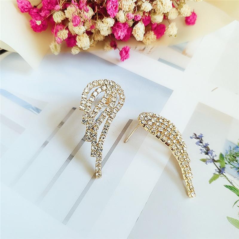Korean fashion earrings with diamond wings NHVA186015