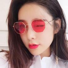 2019新款多边形创意款太阳镜通用八角形时尚潮人墨镜金属框架眼镜