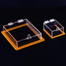 工厂定制亚克力工艺品 亚克力透明盒子 翻盖合页折有机坡璃翻盖盒