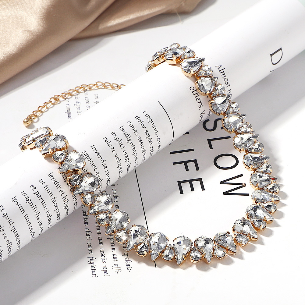 Alloy Diamond Necklace Rhinestone Necklace Simple Jewelry Accessories Wholesale NHJQ179591