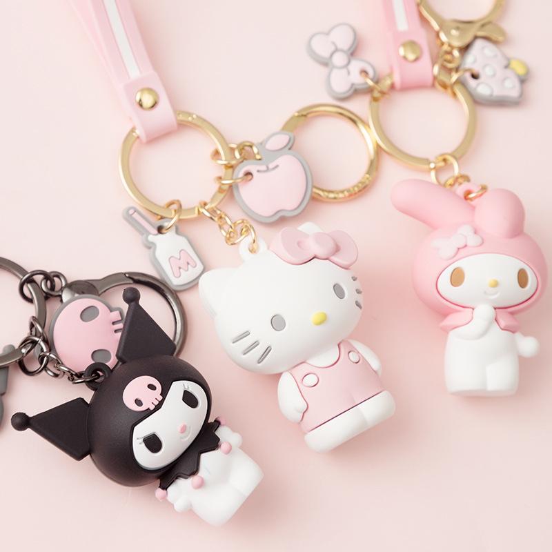 新款滴胶卡通KT系列钥匙扣可爱玩偶包包挂件爪机礼品活动促销赠品