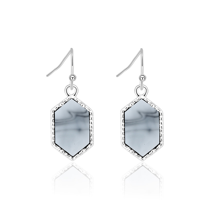 hotselling crystal cluster turquoise earrings imitation natural stone earrings wholesale nihaojewelry NHAN243311