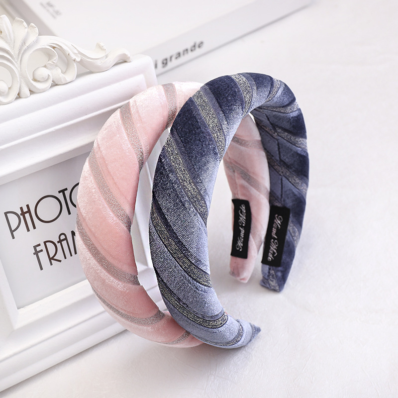 New alloy velvet fabric hot stamping band headband NHOU144268