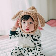 女童2019新款秋冬款糖果爷爷毛绒帽子可爱兔耳朵保暖帽子婴儿帽韩