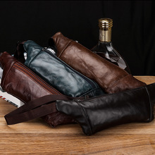 厂家直销真皮男士小腰包薄片腰包隐形腰包一件代发