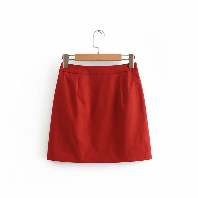 Polyester Fashionskirt(red-S) NHDS0727-red-S