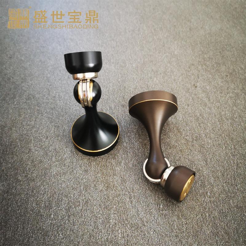 直销家具适用可调节门吸MX-120圆底小型半圆黑棕色吸门器铜锁门锁