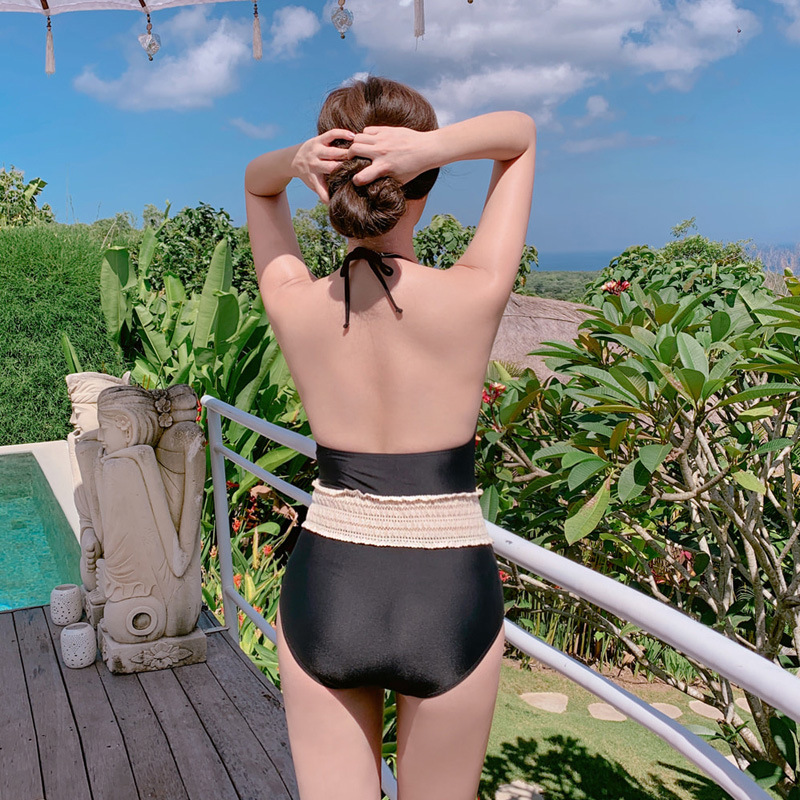 New conjoined triangle small chest sweet cover belly was thin hot spring swimsuit women NHHL204936