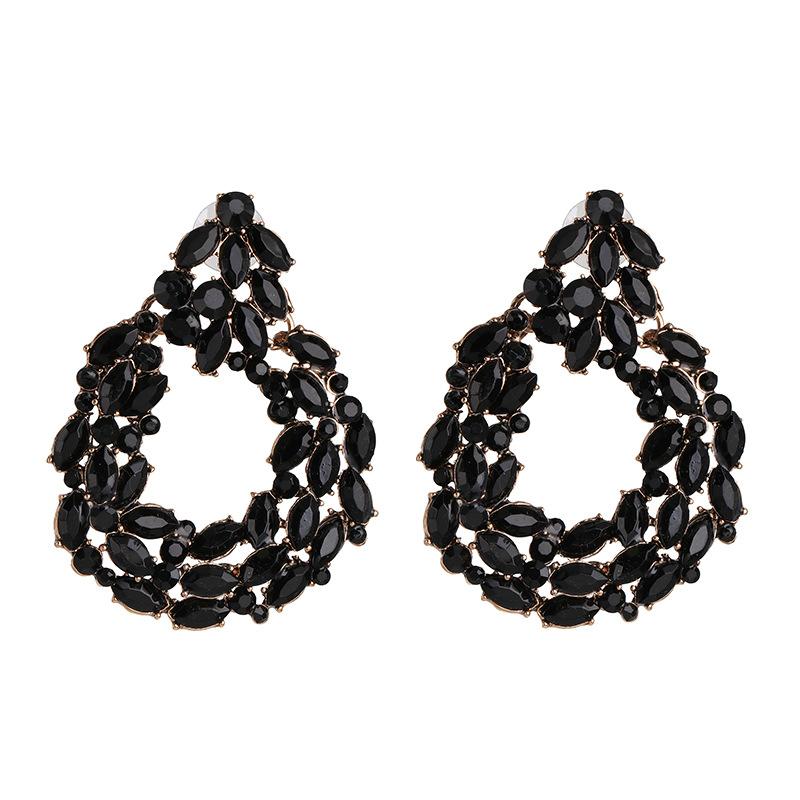 New retro studded geometric stud earrings NHJJ190102