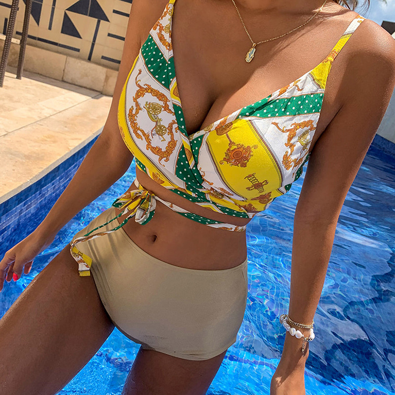 Fashion swimwear wholesale new fashion sexy female split swimsuit NHHL198865