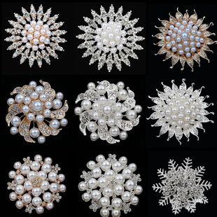 Creative and exquisite pearl flower inlaid diamond flower plate buckle car air outlet accessories girls diy shoes accessories hair accessories accessories