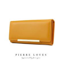 皮爾路易女士錢包 韓版純色兩折錢包 簡約大容納女士手拿包 批發